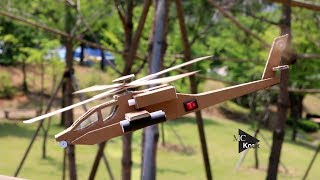 How To Make Helicopter (AH-64 Apache) - Cardboard DIY