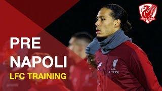 Liverpool train ahead of crucial Champions League tie vs. Napoli