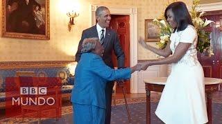 Una mujer de 106 años hace bailar a los Obama