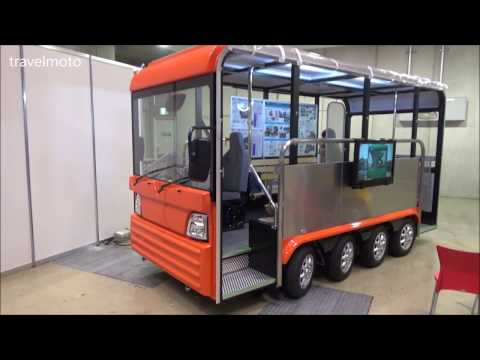 Japanese mini bus with 8 wheels and 8 electric engines