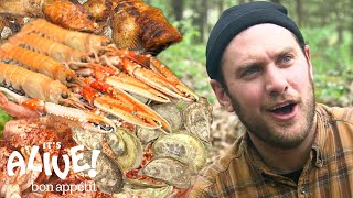 Brad Makes Campfire Seafood | It