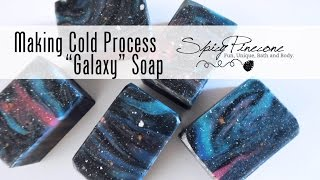 Making Galaxy Cold Process Soap by Spicy Pinecone