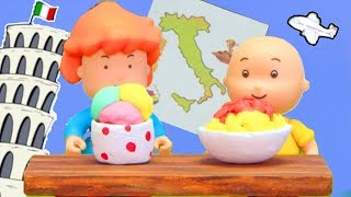 CAILLOU GOES TO ITALY | Funny Animated cartoons Kids | Caillou Stop Motion | Cartoon movie