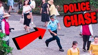 Fake COP in Vietnam Prank! (POLICE CHASE)