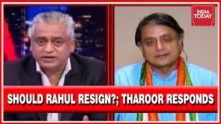 What Next For Congress & Rahul Gandhi?; Shashi Tharoor Exclusive | News Today With Rajdeep