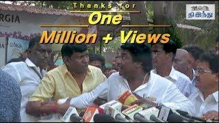 Vadivelu's Fun Moments with Karunas | Nadigar Sangam Meeting | Tamil The Hindu