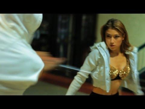 Girl With Sword vs Sword Guy; Short Fight