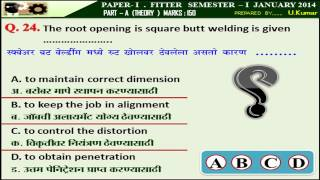 24  The root opening is square butt welding is given .....................