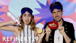 Joey Graceffa What's In My Mouth Challenge With Lucie Fink   YouTube Challenges   Refinery29