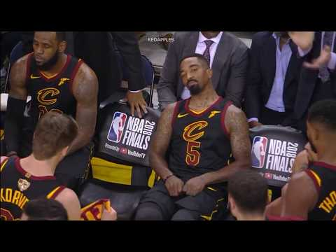 Unseen & Uncut Footage of LeBron & JR Smith after Smith s mistake in GM1