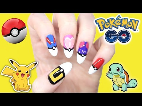 POKEMON GO NAIL ART!! POKEBALL FRENCH TIP NAILS (collab Red Ted Art)
