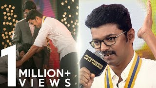 Vijay's touching speech on farmers | Official HD Video | BGM 2017