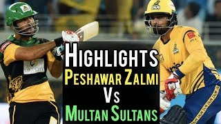 Highlights Of The Match | Peshawar Zalmi Vs Multan Sultans | Best Moments Of The Match 16 | PSL 2018