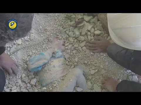 Xxx Mp4 Young Girl Miraculously Rescued Alive From Rubble In Syria 3gp Sex