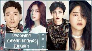 Upcoming Korean Dramas January 2017