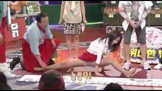 Park Shin Hye doing the Split