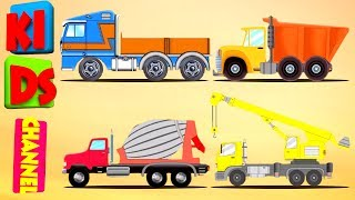 lets build   construct a house   construction vehicles for kids