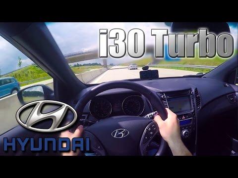 2016 Hyundai i30 Turbo 0 210 Km h POV Autobahn Acceleration Top speed TEST ✔