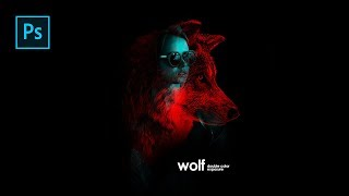 How to Create Human & Animal Double Color Exposure in Photoshop - Photoshop Tutorials