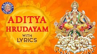 Aditya Hrudayam Stotram Full With Lyrics | आदित्य हृदयम | Powerful Mantra From Ramayana