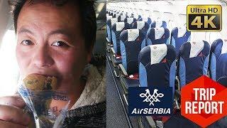 Trip Report (4K) - Air Serbia Economy Class JU360 Belgrade to Amsterdam (BEG - AMS)