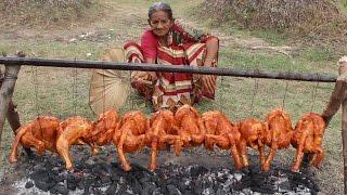 Tandoori Chicken in Village Style My Grandma || Chicken Fry Recipe || Myna Street Food || Food Info