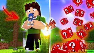 BAIXAMEMORIA GIGANTE VS. LUCKY BLOCK VERMELHO !! - Minecraft (Com MoonKase)