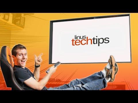 LG Wallpaper TV Window Project COMPLETE – Linus Office Tour