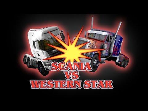Euro Truck Simulator 2 Scania VS Western Star Peterbilt 4964EX