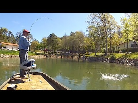 Streamer Fishing for Spotted Bass, Lake Norman - April 2013