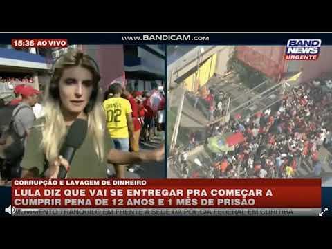 Repórter da Band é agredida ao vivo por bandido apoiador de Lula