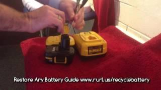 Dewalt Battery Not Charging - Revive NiCd Batteries
