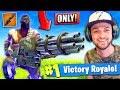 WINNING using *ONLY* the MINIGUN in Fortnite: Battle Royale! (CHALLENGE)