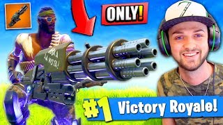 WINNING using *ONLY* the MINIGUN in Fortnite: Battle Royale! (CHALLENGE)