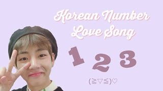 BTS V / Taehyung Sings Korean Number Love Song! (+ the original song and lyrics)