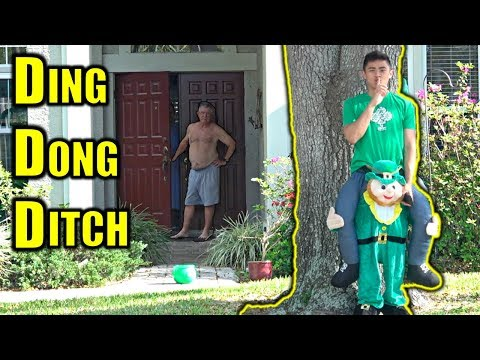 DING DONG DITCH In Leprechaun Suit PRANK