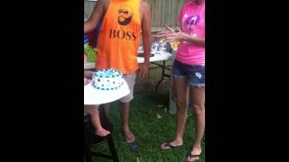 Ryder's first birthday cake smash