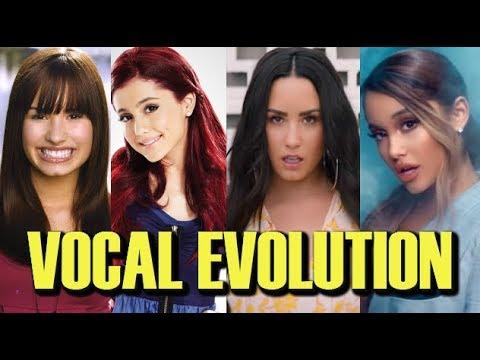Ariana Grande VS Demi Lovato VOCAL EVOLUTION Then & Now HIGH NOTES