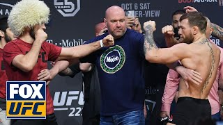 Conor McGregor and Khabib Nurmagomedov face off | WEIGH-INS | UFC 229