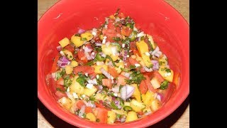 Pico de Gallo Salsa - Pineapple Mango Salsa Recipe