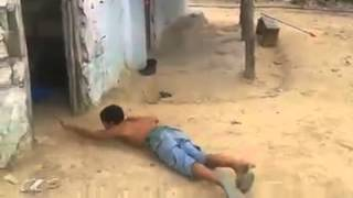 Funny Video: Boy Pulls High Weight