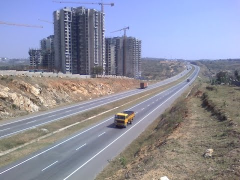 Bangalore City Growing Skyline Nice Ring Road 2016