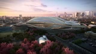 Japan National Stadium -- Tokyo 2020 Olympic Stadium -- by Zaha Hadid Architects