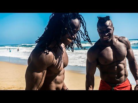 African Beasts Alseny and Sekou Huntington Beach W Strength Project