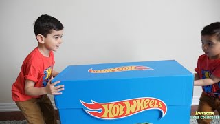 BIGGEST HOT WHEELS Surprise Toys Cars UNBOXING GIANT SURPRISE Hot Wheels Kids Video Toys Collectors