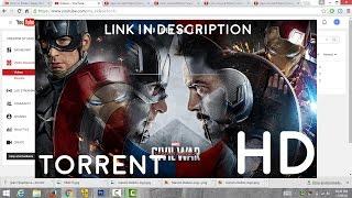 Download Captain America : Civil War 1080p Download link in description. (Educational Tutorial)
