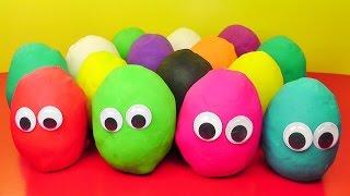 Many Play Doh Eggs Princess Kinder Surprise Disney Peppa Pig Mickey Thomas & Friends Cars 2