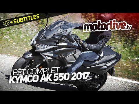 KYMCO AK 550 2017 TEST COMPLET SUBTITLES