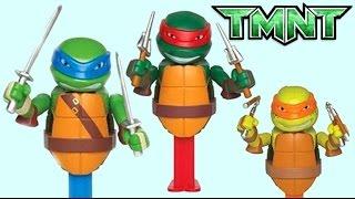 TEENAGE MUTANT NINJA TURTLES TMNT Connectibles PEZ Candy Dispensers, Toy Surprises, Lollipop / TUYC