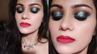 NEW YEAR PARTY /CHRISTMAS Makeup In HINDI| Loose GLITTER EYELINER